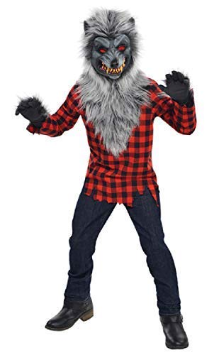 Kostüm Teen Tier - Fancy Me Jungen Teens Hungrig Heulen Werwolf Tier Unheimlich Gruselig Halloween Kostüm Kleid Outfit 12-16 Jahre - 14-16 Years