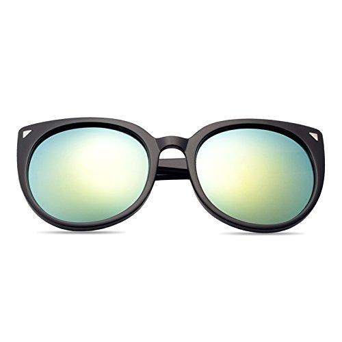 Sonnenbrillen Elegante Persönlichkeits-sonnenbrille Dame Mode Polarisierte Sonnenbrille 100% Uv-schutz Black Frame Gold Film (Sammelbeutel)