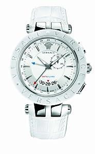Versace 29G9S1D001 S001 - Reloj analógico de cuarzo unisex con correa de piel, color blanco de Versace