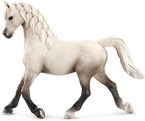 Schleich- Figura de Caballo, Yegua Árabe, Color Blanco, 10 cm