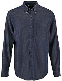 f3270f92fa SOLS Camisa Vaquera de Manga Larga Modelo Barry Para Hombre