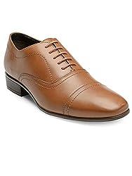 Franco Leone Mens Tan Leather Formal Shoes - 8 UK/India (42 EU)