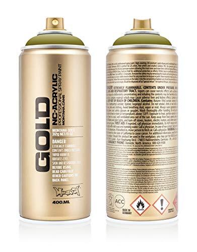 Montana Cans 284021 Montana Spray Dose Gold 400ml, Gld400-1140-Pepperoni Hot