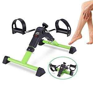 LIJJY Mini Cyclette Pieghevole Pedaliera da Casa Regolabile Digitale Mani E Piedi Pedale per Braccia E Gambe