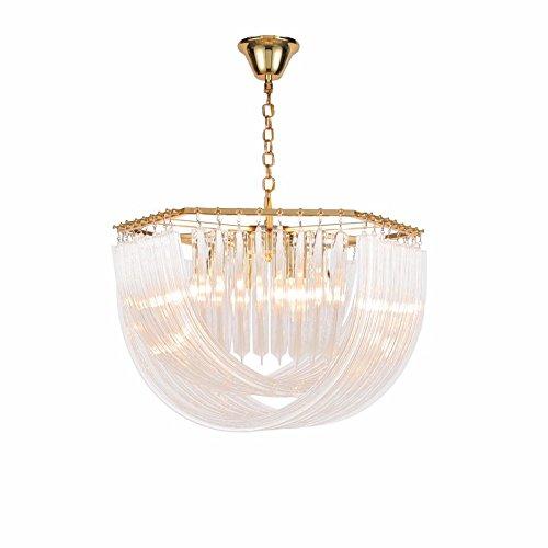 Murano-metall-kronleuchter (L-M-Yang Kronleuchter aus Murano-Glas, Villen, Designer Speisesäle, Lampen, schmiedeeisernen Kronleuchtern, Kristallleuchter, 9 Leiter)