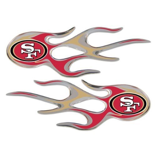 san-francisco-49ers-nfl-micro-flames-auto-decal-2-pack-for-car-truck-motorcycle-bike-mailbox-locker-
