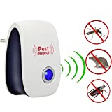 Reject Ultrasonic Pest Repeller, Control for Mosquitoes, Mice, Ants, Roaches, Spiders, Lizards, Flies, Bugs, Non-Toxic, Human and Pet Safe Electronic Plug In Repellent