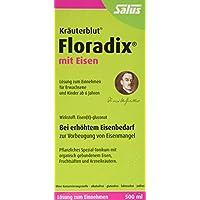 Floradix mit Eisen, 500 ml - Alternative zu Eisentabletten - Pflanzliches Spezial-Tonikum Schwangere & Kinder ab 6 - Eisenpräparat zur Vorbeugung von Eisenmangel