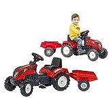 AK Sport 0709208 - Traktor Trac Set 2/5, rot, Traktoren Anhänger