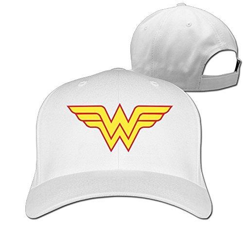 Hiphop Fashion ajustable mdlww Wonder Woman WW Cap niños -  Blanco -