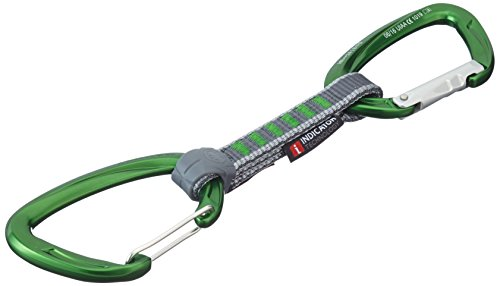 Mammut Express Set 5er Pack Crag Indicator Wire Straight Gate/Bent Gate, Green, 10 cm, 2210-01400-3240-10