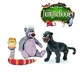 Il libro della giungla - Set 3 Peluches il libro della giungla 25 cm - Oso Baloo, Serpente Káa, Pantera Bagheera - Qualità super soft