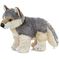 Flopsies - Lobo de peluche, 31 cm, color gris y blanco (Aurora World