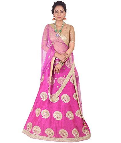 Indian Ethnicwear Bollywood Pakistani Wedding Pink A-Line Lehenga Semi-stitched-DIVISL010