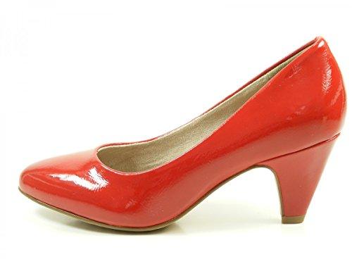 Tamaris22416 - Scarpe con Tacco Donna Rosso (Chili Patent)