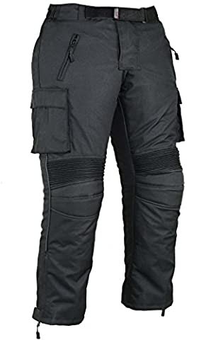Mens Cargo Motorbike Protective Trousers Waterproof W32 L30
