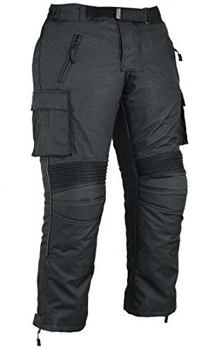 Preisvergleich Produktbild Herren Fracht Motorrad Schützend Hosen Wasserfest - Schwarz,  W34 L32