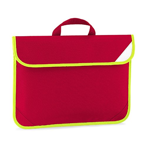 Quadra, Borsa a mano uomo blu Bright Royal Rosso (Classic red)