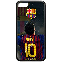 FC Barcelona Lionel Messi iPhone 5C Cell Phone Cases Cover Popular Gifts(Laster Technology)