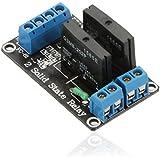 maxcrest (TM) Hochwertiger 2-Kanal-5V SSR Low Level Trigger Solid State Relay Module Board für Arduino ARM DSP PIC mit Resistiver Sicherung