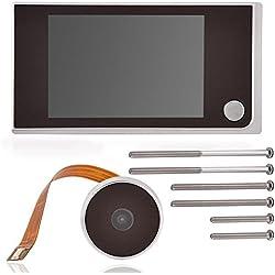 8,9cm Digital TFT LCD vidéo Sonnette Peephole Viewer Camera, Zerone HD de sécurité pour porte Peephole Viewer Grand Angle de 120° Home Système de caméra moniteur