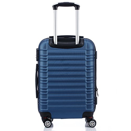 BEIBYE Zwillingsrollen 2088 Reisekoffer Koffer Trolleys Hartschale in XL-L-M in 14 Farben (Blau, Set) - 3