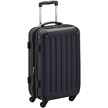 HAUPTSTADTKOFFER - Alex- Carry on luggage On-Board Suitcase Bag Hardside Spinner Trolley 4 Wheel Expandable, 55cm, black