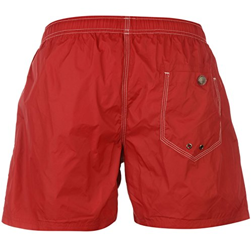 Replay Basic Herren Badeshorts Schwimmshorts Shorts Badehose Taschen Tunnelzug Rot