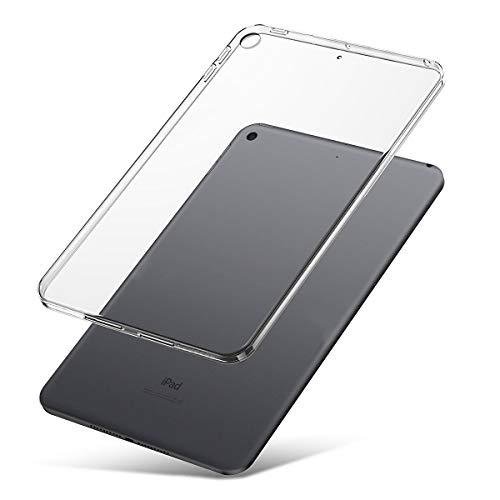 JundD Kompatibel für iPad Mini 5/iPad Mini 4 Hülle, [Schlank Kissen] [Leichtgewichtig] [Transparent] Stoßfest Schützend Dünn Klare TPU Gummi Tablet Stoßschutzhülle für Apple iPad Mini 5 Case Clear