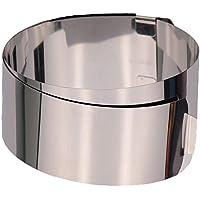 Zenker 2470 - Molde para tartas con dos asas, 15 a 30 centímetros, acero