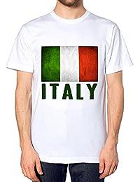 para Hombre Nation de Italia Rugby Top Country de la Bandera de T-Camiseta  de Manga Corta Sport T-Camiseta de Manga Corta diseño de… e5deecfaa64