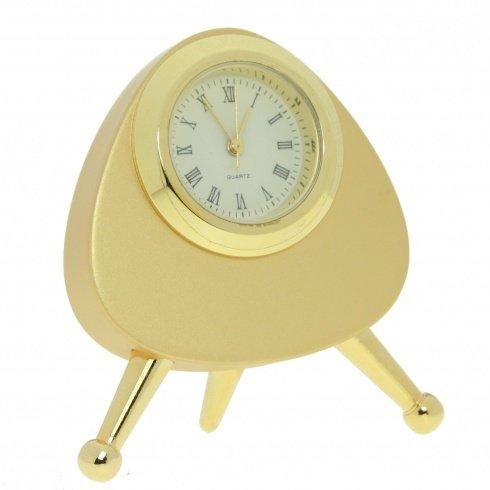 11110 | Reloj Sobremesa Decoracion Miniatura Mod.5458 Cromado Bisel Chap