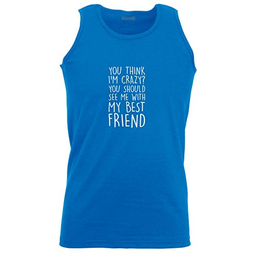Brand88 - You Should See Me With My Best Friend, Unisex Athletic Weste Koenigsblau