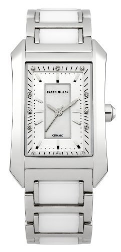Karen Millen Ceramic Ladies Swarovski Elements Watch - KM119SM
