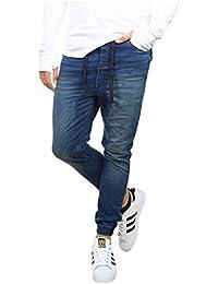 Urban Surface Herren Bequeme Sweat Jeans mit Gummibund Carrot Fit