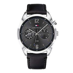 Tommy Hilfiger Reloj Multiesfera para Hombre de Cuarzo con Correa en Cuero 1791548