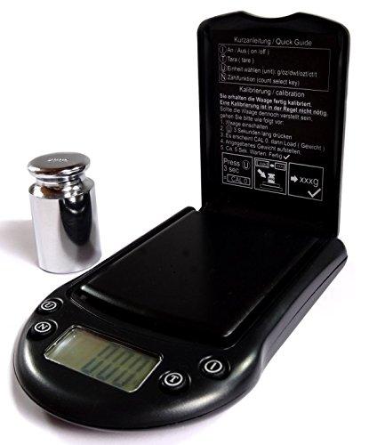 Nohlex 500g/0,01g + 200g Kalibriergewicht + Etui Feinwaage Digitalwaage Taschenwaage Goldwaage