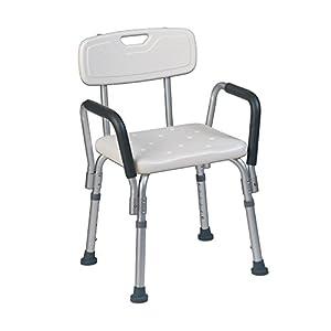Teqler ® T-135303 – Silla de Ducha (Altura Ajustable, 38-45 cm)