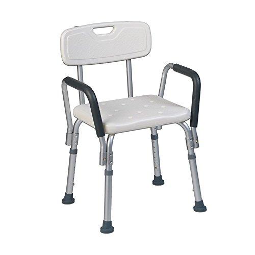 Teqler ® T-135303 Duschstuhl, Badehocker, Duschstuhl für pflegebedürftige Menschen, höhenverstellbarer Duschstuhl