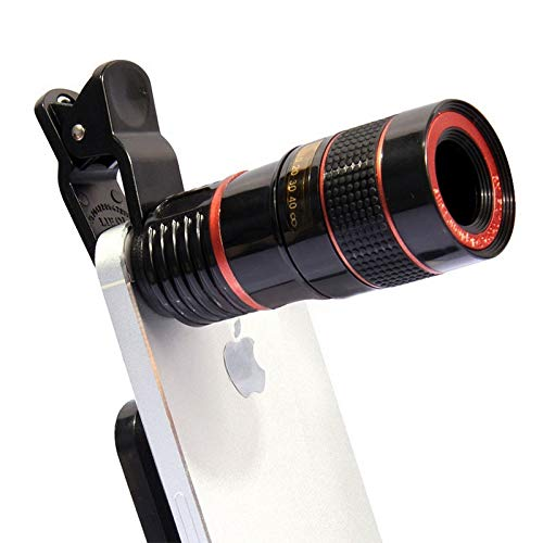 SJSXTLLL Phone Camera Lens 12X Zoom Optical Phone Telescope Telephoto Lens for iPhone for Samsung for Xiaomi for Huawei for Android for ios Smartphone