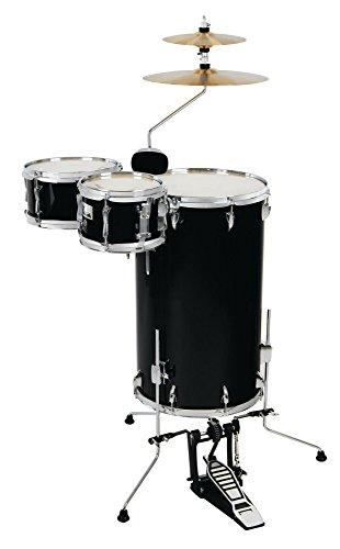 XDrum Club Drumset Cocktail Schlagzeug (inkl. Becken, Cowbell, Drumsticks und Stimmschlüssel) Midnight Black