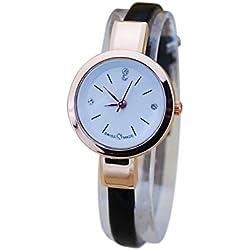 OUMOSI Womens Rhinestone Quartz Watch Fashion 5mm Wide Ultra-Thin Strap Wristwatch