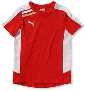 PUMA Kinder Trainingsshirt Esito, puma red-white, 140, 652600 01