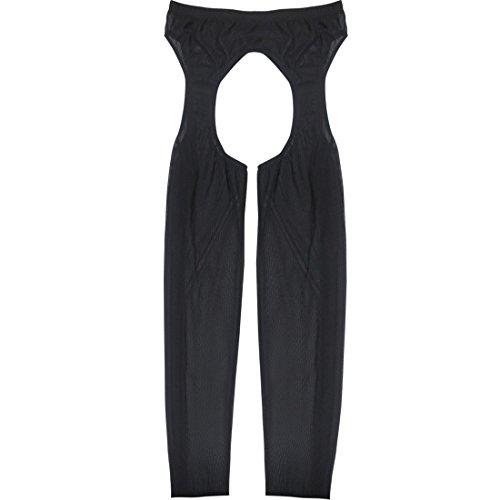 Preisvergleich Produktbild iEFiEL Männer Mesh Strumpfhose Legging Hose Tights Vorne und Hinten offen
