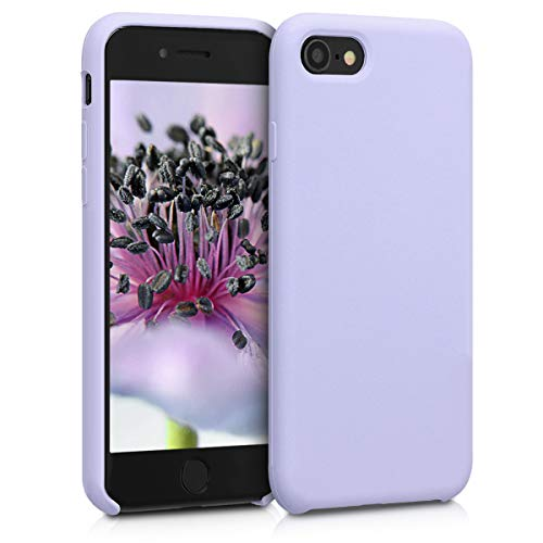 kwmobile Apple iPhone 7/8 Hülle - Handyhülle für Apple iPhone 7/8 - Handy Case in Pastell Lavendel