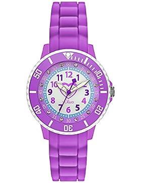 s.Oliver Mädchen-Armbanduhr Analog Quarz Silikon SO-3108-PQ