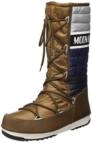 Moon Boot Unisex-Erwachsene W.E. Quilted Schneestiefel, Bronzo/Blu/Grigio, 38 EU