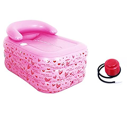 PIGE Pink Trumpet Inflatable Tub Adult Thickened Tub Tubing Bucket