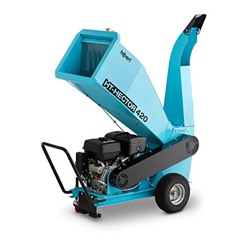 Hillvert HT-HECTOR 422 Gartenhäcksler Messerhäcksler Benzin Häcksler 15 PS 100 mm Holzhäcksler Schredder Walzenhäcksler