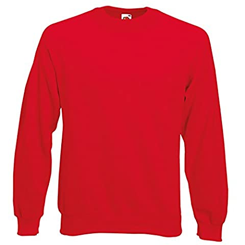 Fruit of the Loom - Sweat-shirt - Moderne - Homme X-Large - rouge - X-Large